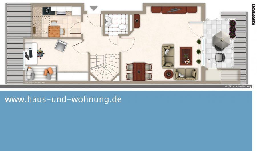 haus und wohnung markus l hr seltene gelegenheit maisonette dachgeschosswhg mit 75 qm. Black Bedroom Furniture Sets. Home Design Ideas