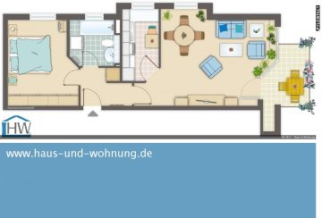 HELL UND CLEVER GESCHNITTEN – EINBAUKÜCHE UND TAGESLICHTBAD INKLUSIVE, 53123 Bonn (Lessenich), Etagenwohnung