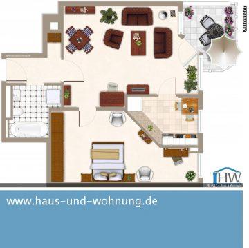 CLEVER GESCHNITTENE SINGELWOHNUNG  – EINBAUKÜCHE UND SONNENBALKON INKLUSIVE, 53123 Bonn (Lessenich), Etagenwohnung