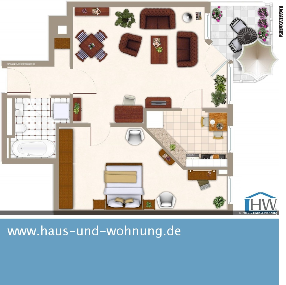 haus und wohnung markus l hr clever geschnittene singelwohnung einbauk che und sonnenbalkon. Black Bedroom Furniture Sets. Home Design Ideas