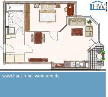 CLEVER GESCHNITTENE SINGELWOHNUNG IM BELIEBTEN AGNESVIERTEL, 50670 Köln (Innenstadt), Etagenwohnung