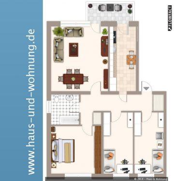 Großzügig geschnitten mit Fußbodenheizung und Tageslichtbad, 50129 Bergheim, Etagenwohnung