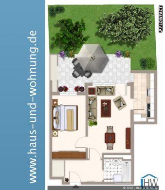 SELTENE GELEGENHEIT – GARTENWOHNUNG OHNE ERBPACHT IN BELIEBTER LAGE VON MONHEIM, 40789 Monheim (Baumberg), Erdgeschosswohnung