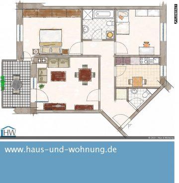 CLEVER GESCHNITTENE 3-RAUM WOHNUNG IN BELIEBTER LAGE VON FLIESTEDEN, 50129 Bergheim, Etagenwohnung