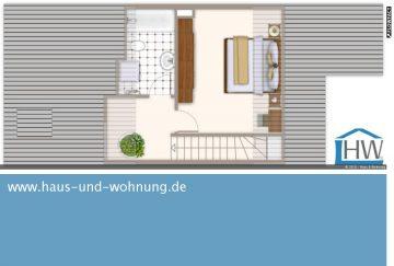 SELTENE GELEGENHEIT  –  MAISONETTEDACHGESCHOSS MIT 86 QM GRUNDFLÄCHE SUCHT NEUE BEWOHNER, 40789 Monheim (Baumberg), Maisonettewohnung