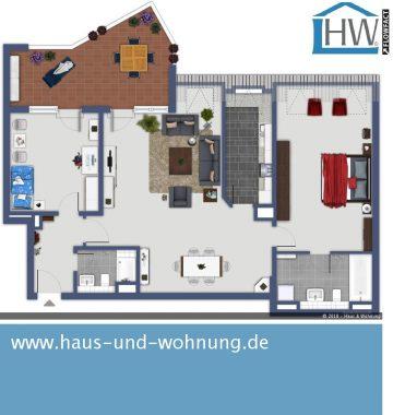 GROSSZÜGIG GESCHNITTENE 3-RAUM-WHG. MIT 98 QM GRUNDFLÄCHE — ZENTRAL UND DENNOCH RUHIG GELEGEN, 50823 Köln (Ehrenfeld), Etagenwohnung