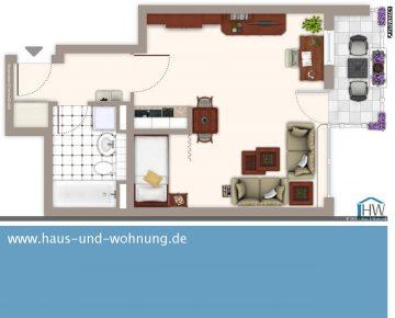 CLEVER GESCHNITTENE SINGLEWOHNUNG – SONNIGER SÜDBALKON UND SEPARATE SCHLAFNISCHE INKLUSIVE, 50823 Köln (Ehrenfeld), Etagenwohnung