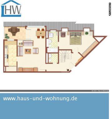 MAISONETTE-DACHGESCHOSS-WOHNUNG MIT 134QM GRUNDFLÄCHE – ZENTRAL UND DENNOCH RUHIG GELEGEN, 50823 Köln (Ehrenfeld), Maisonettewohnung