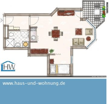 CLEVER GESCHNITTENE SINGELWOHNUNG – MIT EINBAUKÜCHE UND SEPARATEM SCHLAFBEREICH, 53125 Bonn (Hardtberg), Etagenwohnung