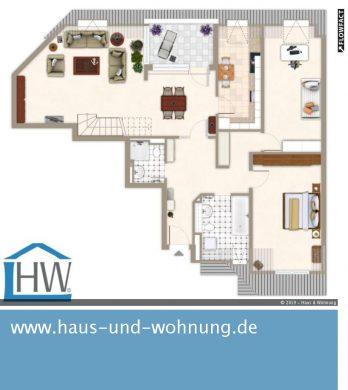 GROSSZÜGIG GESCHNITTENE MAISONETTE-DACHGESCHOSSWOHNUNG IN BELIEBTER LAGE VON DUISDORF, 53123 Bonn, Dachgeschosswohnung