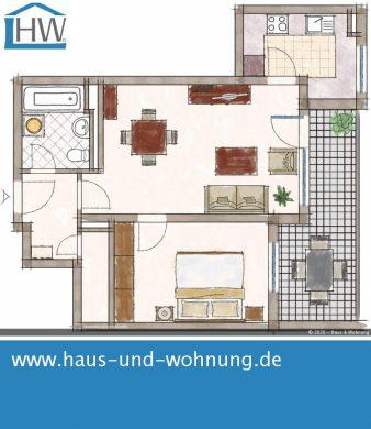 OHNE ERBPACHT  —  CLEVER GESCHNITTENE 2-RAUM-WOHNUNG IN BELIEBTER LAGE VON WESSELING, 50389 Wesseling, Etagenwohnung
